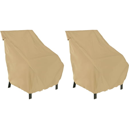 Classic Accessories Terrazzo High Back Patio Chair Cover 2-Pack Bundle ()