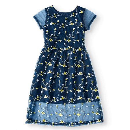 Embroidered Mesh Dress (Little Girls, Big Girls & Big Girls Plus) (Girls Dresses 7 16)