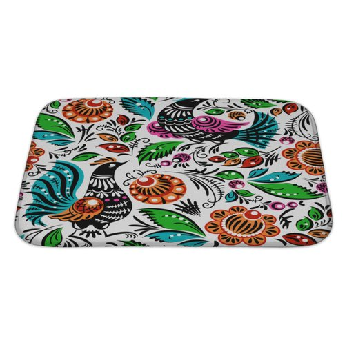 Gear New Birds Folk Bath Rug