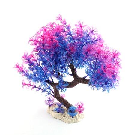 Home Fish Tank Aquarium Plastic Tree Designed Artificial Plant Decor Multicolor ()