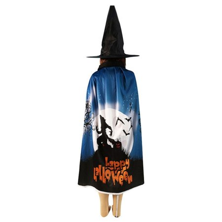 Masquerade Halloween Costumes For Kids (Witch Wizard Cope Cloak Halloween Costume Kids Masquerade Dress Up Cloak Cos)