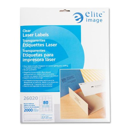 Labels Images (Elite Image Clear Address Laser Label - 0.50