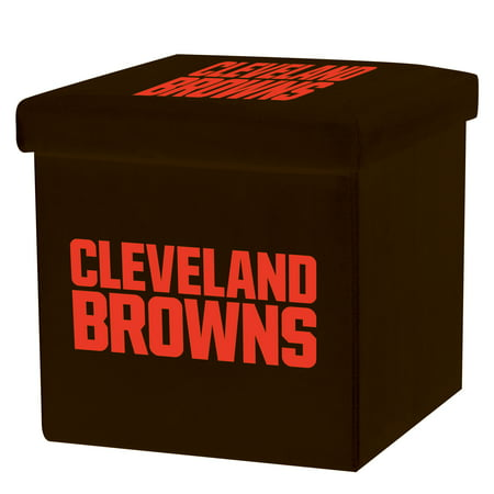Franklin Sports NFL Cleveland Browns Storage Ottoman with Detachable (Cleveland Stores)