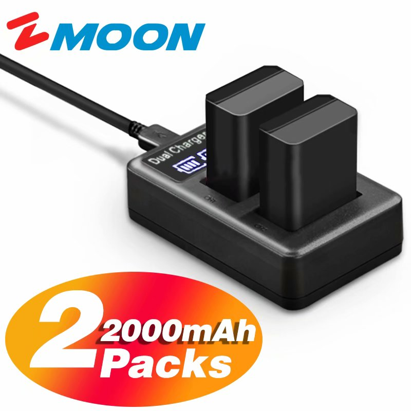 Alpha 7 7II 7R 7S 7R Alpha 7RM2 7SM2 7M2 DSC -RX10M4 NEX-3 UGREEN NP FW50 Replacement Battery 2 Pack 1020mhA with Battery Charger for Sony Alpha 6000 6300 6100 6500 6400 5100 NEX-6 NEX-7 NEX-5