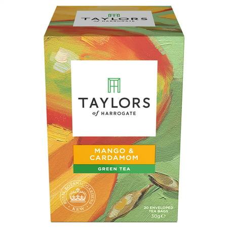 Cardamom Tea - Taylors of Harrogate, Mango & Cardamom Green Tea, Tea Bags, 20 Ct