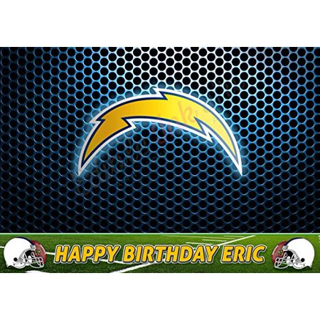 Los Angeles Chargers NFL Edible Cake Topper Personalized 1/2 Size Sheet Decoration Party Birthday Sugar Frosting Transfer Fondant Image (Nfl Party Decorations)