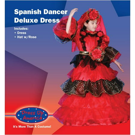 Spanish Woman Costume (Spanish Dancer Deluxe Dress up Costume Set - Toddler)
