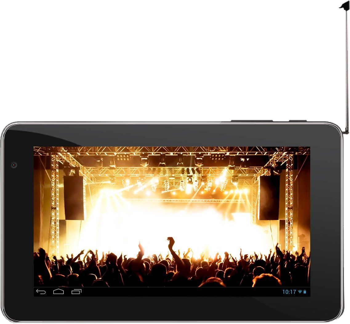 "MJ Technology 7"" Android Tablet with Built-in HDTV Tuner (Black) - New"