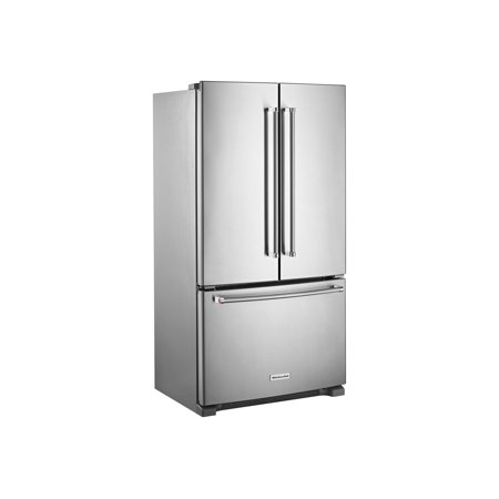 KitchenAid KRFC300ESS - Refrigerator/freezer - french style with water dispenser - freestanding - width: 35.7 in - depth: 30.5 in - height: 70.1 in - 20 cu. ft - stainless steel
