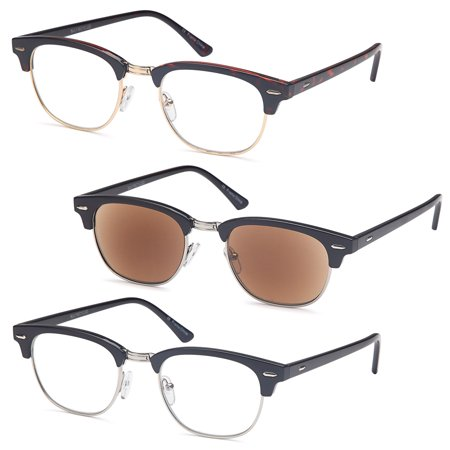 GAMMA RAY READERS Men's Vintage Readers Quality Reading Glasses for - M Reader