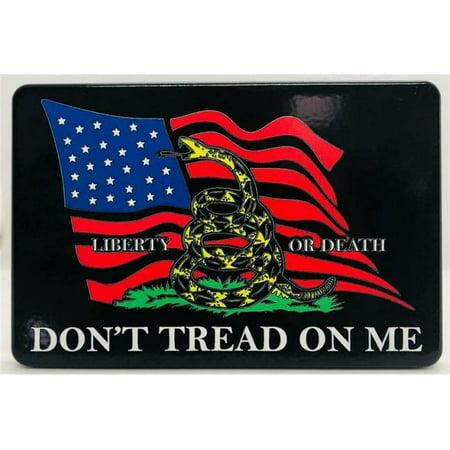 HMC HMC-TH-DTOMLIBERTYFLAG-3x5-UV 3 x 5 in. Dont Tread on Me Liberty Flag UV Resistant Trailer Hitch Cover (Ibm Hmc)