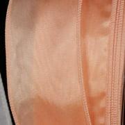 """Apricot Dakota Moire Wired Craft RIbbon 1.5"""" x 80 Yards"""