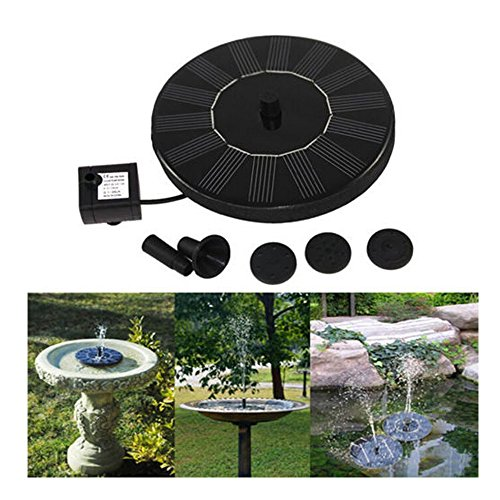 Solar Power Bird Bath Fountain,Funfunman 1.4 W Solar Panel Water Floating Fountain Pump Kit for Bird Bath,Fish Tank,Small Pond,Garden Decoration