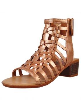 fbe7b627df6 Product Image Olivia Miller Girls  Gladiator Sandals (Sizes 11 ...