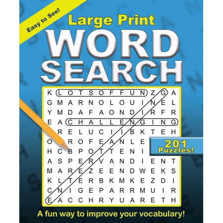 Large Print Word Search - Word Search Games Halloween
