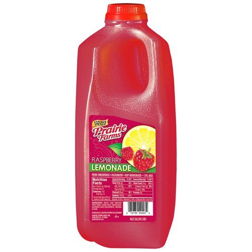 Prairie Farms Raspberry Lemonade, Half Gallon