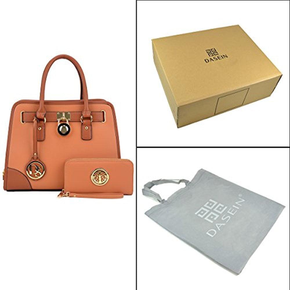 012617e15f2e Dasein - Dasein Women s Designer Handbags Padlock Belted Satchel Bags Top  Handle Handbag Purse Shoulder Bag w  Matching Wallet - Walmart.com