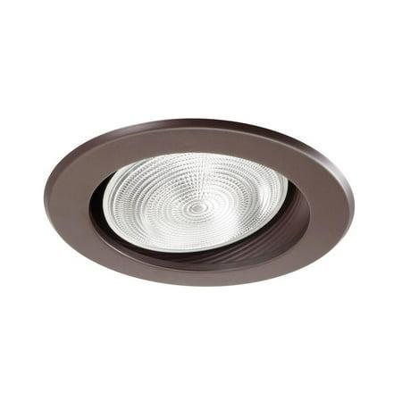 NICOR Lighting 6-Inch Sloped Ceiling Baffle Trim, Oil Rubbed Bronze (17711OB-OB)