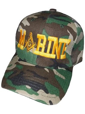 37c1003831 Product Image Buy Caps and Hats MARINES Masonic Baseball Cap Mason Hat Mens  One Size (Camouflage)