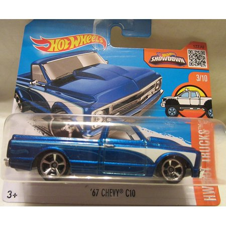 2016 Hot Wheels Hot Trucks '67 Chevy C10 3/10 Short Card, 1:64 Scale By