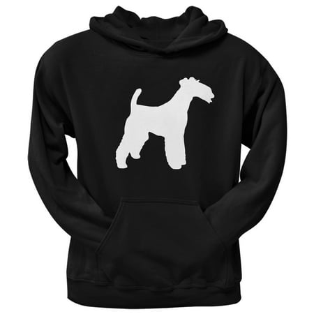 Wire Fox Terrier Silhouette Black Adult Pullover Hoodie