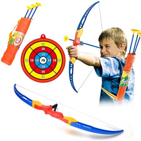 Simulation Bow Arrow Plastic Soft Sucker Arrow with Target Set Children Sports Toys - Children's Bow And Arrow