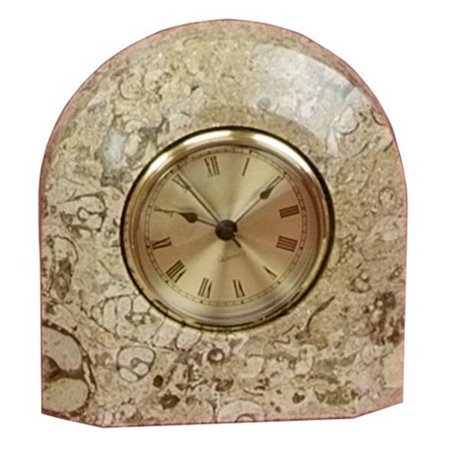 Fossil Marble Arch Desktop Clock With Bevel