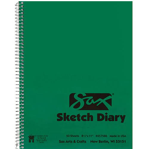 "Sax Artists Sketch Diary, 8.5"" x 11"", 2 Pack"