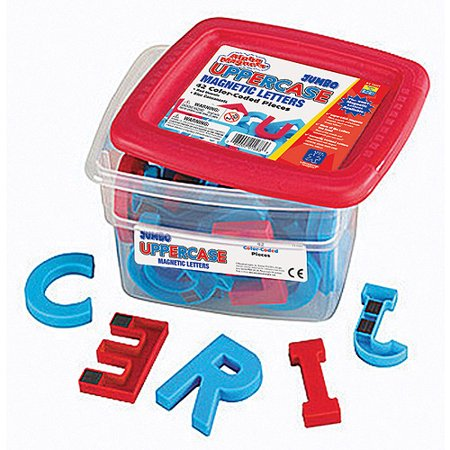 Alphamagnets Jumbo Uppercase Color Coded Magnetic Pieces Set of 42