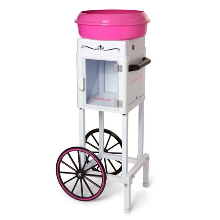 Nostalgia 3' Tall Hard and Sugar-Free Candy Cotton Candy Cart, CCM200 for $<!---->