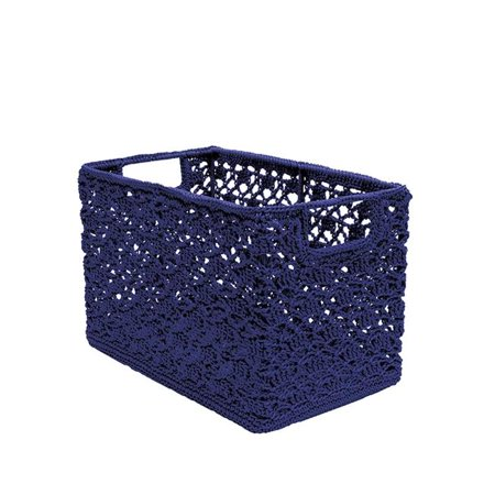Heritage Lace MC-1070NV 12 x 7 x 8 in. Mode Crochet Wire Basket, Navy