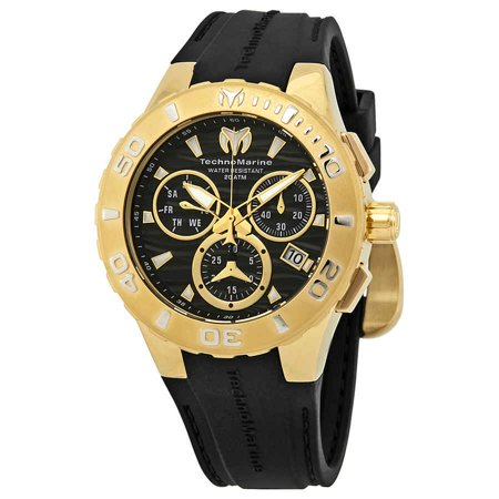 Technomarine Sport Wrist Watch (TechnoMarine Cruise Medusa Chronograph Black Dial Men's Watch)