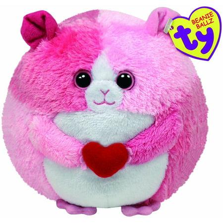Cp Beanie Ballz Ty Rosa the Pink Hamster With Red Heart - Plush - Regular  by TY Beanie Ballz - Walmart.com e6f227b92fe