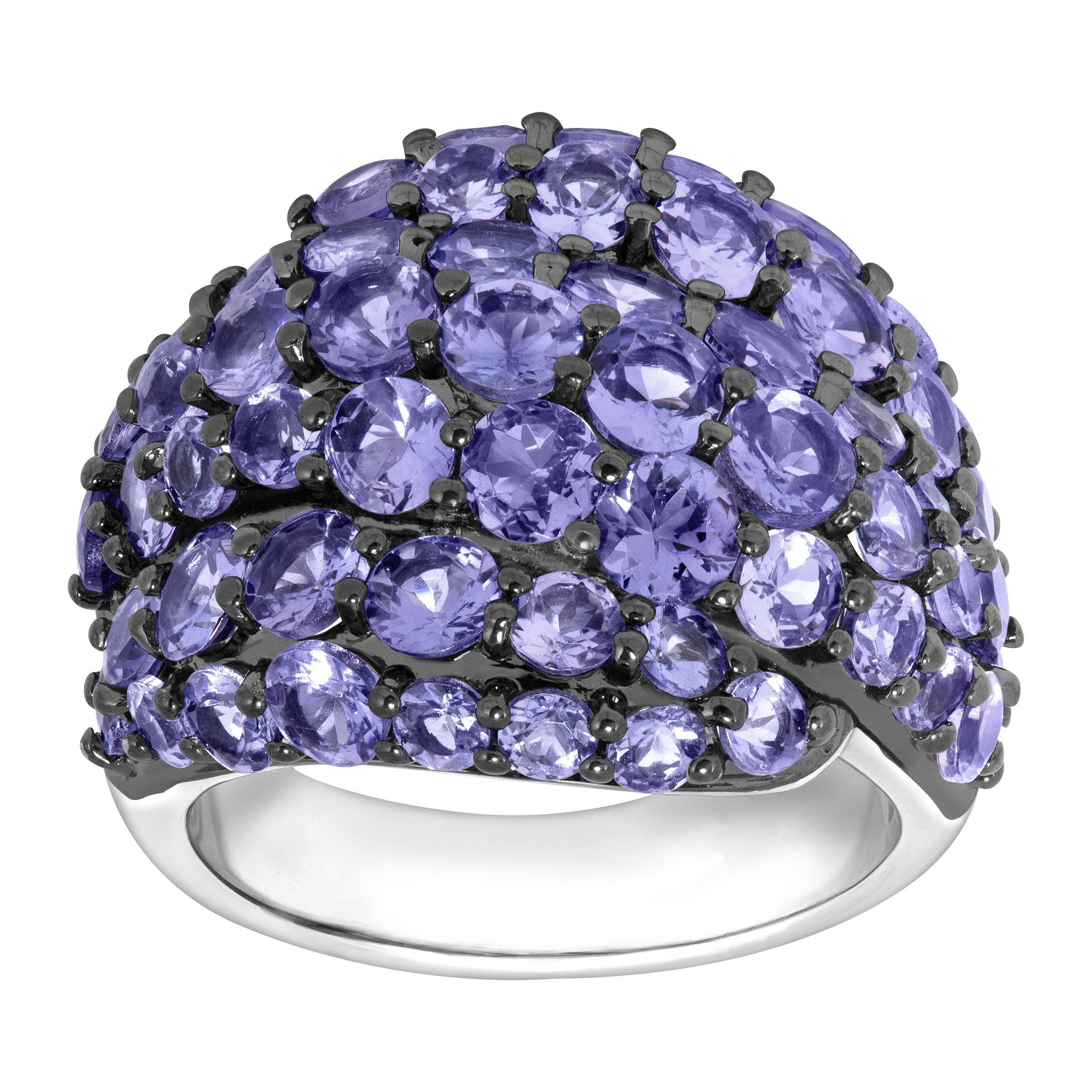 6 1 2 ct Natural Tanzanite Dome Ring in Sterling Silver by Richline Group