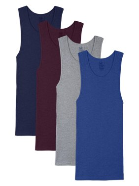 Fruit of the Loom Men's Dual Defense Assorted A-Shirts, Extended Sizes, 4 Pack