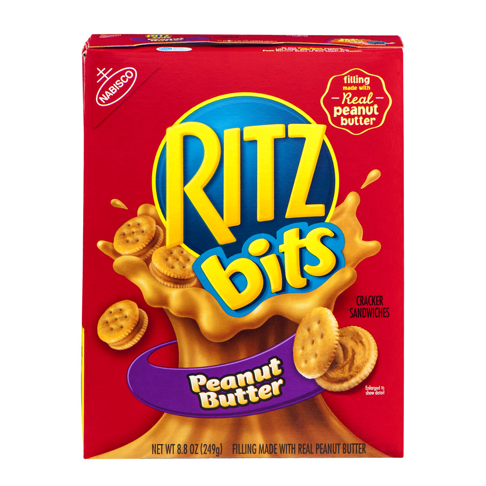 Nabisco Ritz  Bits Sandwich Crackers, Peanut Butter, 8.8 Oz (Pack of 3)