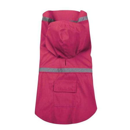 Guardian Gear Bright Dog Raincoat w/ Reflective Stripe RASPBERRY S/M -