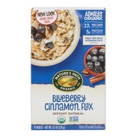 Nature's Path, Instant Oatmeal, Blueberry Cinnamon Flax, Organic, 8 Packets