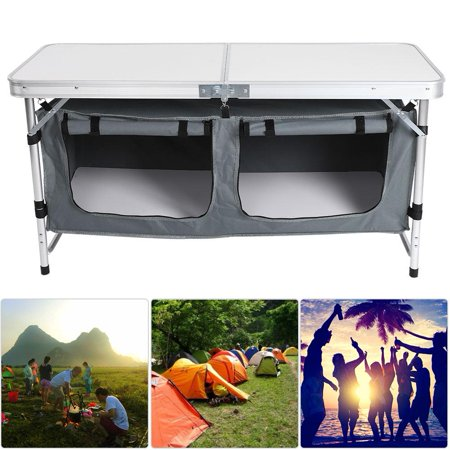 Folding Picnic Table Walmart.Yosoo Folding Camping Table Portable Folding Table Aluminum Camping Desk Outdoor Picnic With Storage Pouch Picnic Table