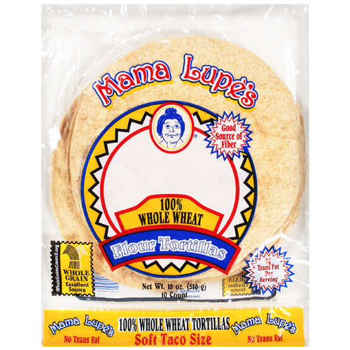 Mama Lupe's: Soft Taco Size 100% Whole Wheat Flour Tortillas, 18 Oz