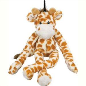 Multipet Swingin 22-Inch Large Plush Dog Toy with Extra Long Arms and Legs with Squeakers Multi-Colored