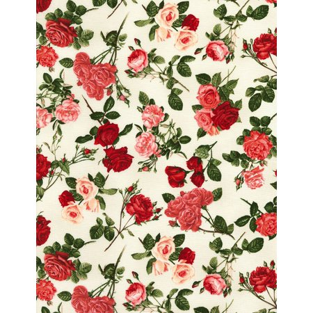 Traditional Roses on Cream - Timeless Treasures Cotton Fabric