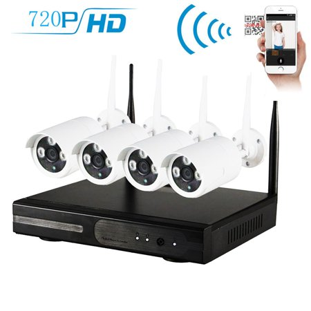Hidden Outdoor Security Camera (Zimtown 4CH 720P NVR Wireless Wifi Outdoor IR Night Vision Home Security Camera System (Hard Drive NO Include) )