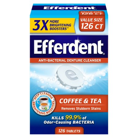 Efferdent Coffee & Tea Denture Cleanser, 126