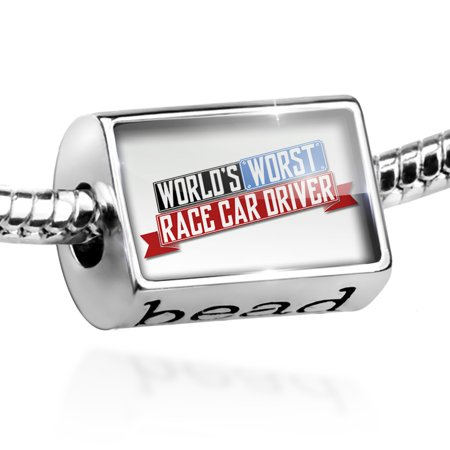 Bead Funny Worlds worst Race Car Driver Charm Fits All European