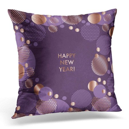 ARHOME Luxury Gold Abstract Design Pattern Violet and Rose Geometry Purple Style Elegant for Festive Header Pillow Case Pillow Cover 20x20 inch