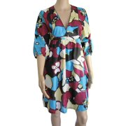 Womens 'Jackson' V-Neck V Dress, Blue, Size XS/36