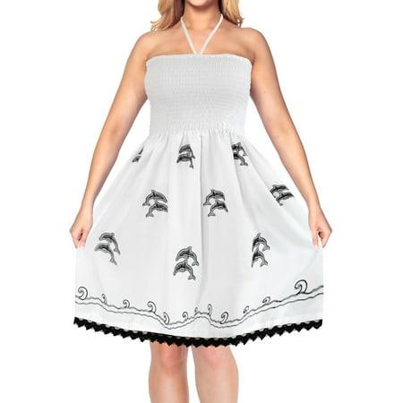 HAPPY BAY - Evening Casual Tube Dress Maxi Skirt Beach Backless Sundress  Halter Swimsuit - Walmart.com ca48a1647