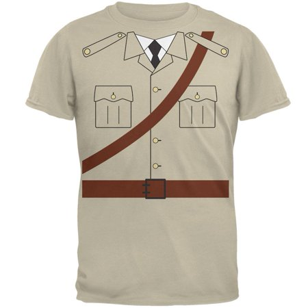 Halloween Safari Explorer Dr. Livingstone Costume Mens T Shirt - Halloween Costume White Button Up Shirt