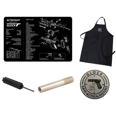 Hot Tools 1.5 Spring - Glock Perfection Apron Black + Glock Safe Action Aluminum Sign + Cleaning Work Tool Bench Pistol Gun Mat + 3/32 Punch Armorers Gunsmith Tool + Front Sight Tool